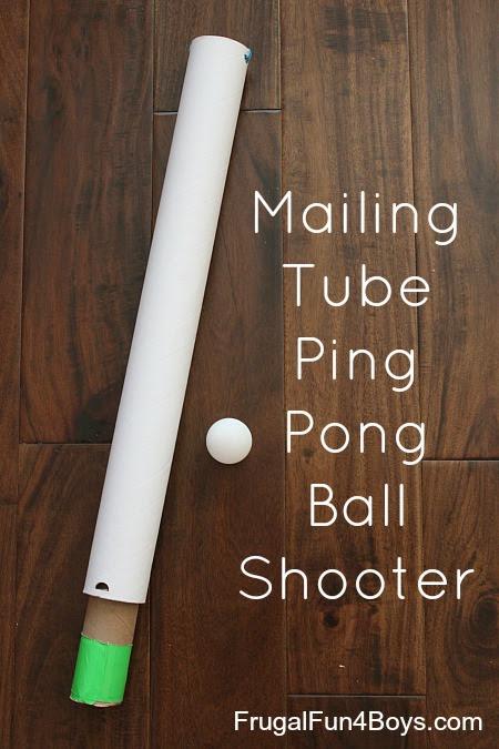 Mailing Tube Ping Pong Ball Shooter