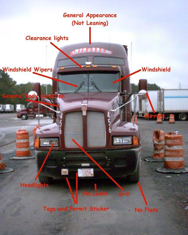 Semi Truck Pre Trip Inspection Diagram