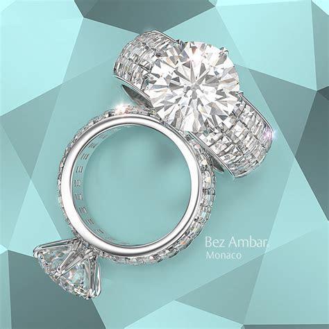 Large Diamond Engagement Rings Wide Blaze Shank