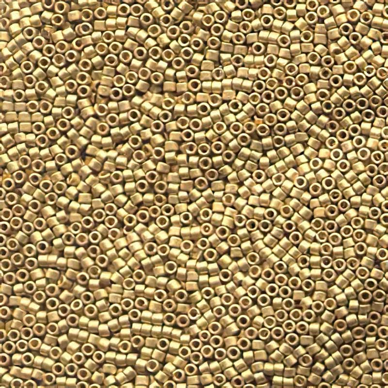 dbm0331 Delicas - 10/0 Japanese Cylinders - Matte 24 Kt Gold Plated (3.3 grams)