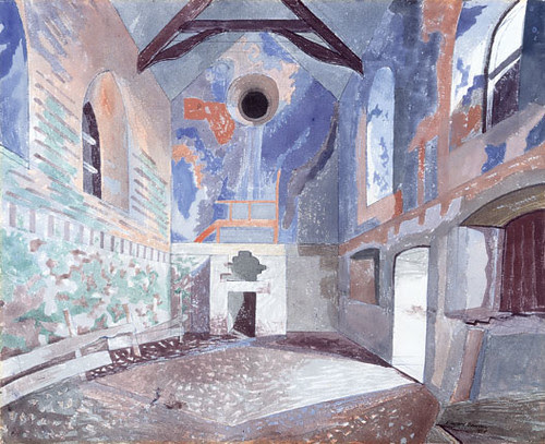 'Wingfield Manor, Derbyshire - The Great Hall', 1979 Watercolour (faslondon.com)