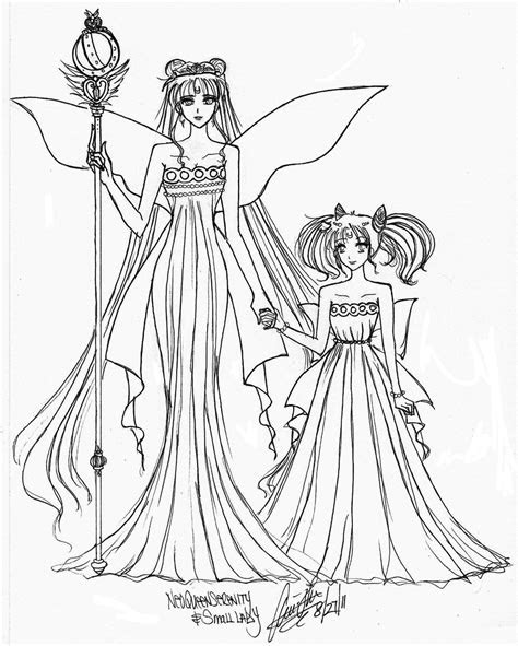 anime mom coloring pages