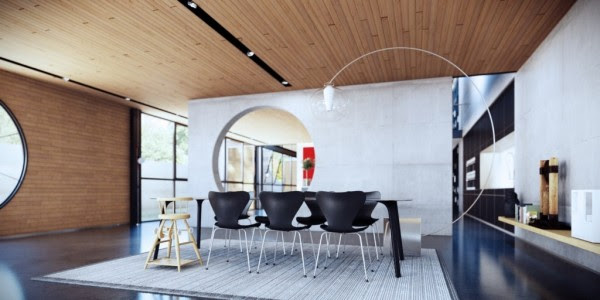 funky dining room