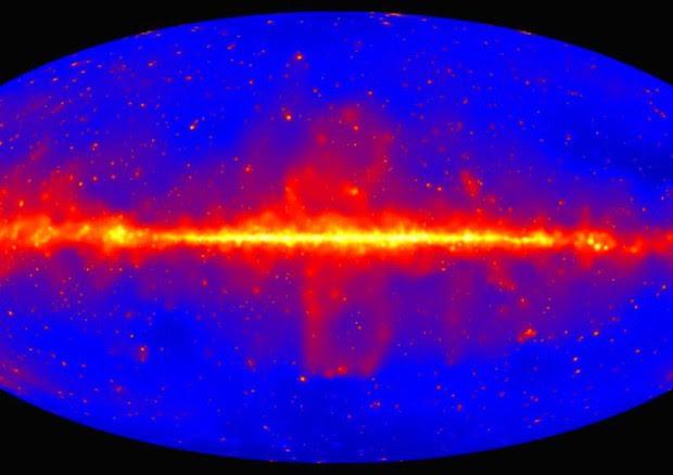 La mappa della luce delle stelle dell'universo (fonte: Nasa/Doe/Fermi Lat Collaboration) © Ansa