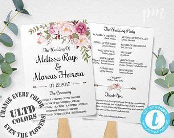wedding ceremony program template ideas  pinterest