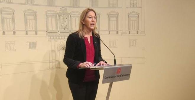 La consellera de Presidencia de la Generalitat, Neus Munté.