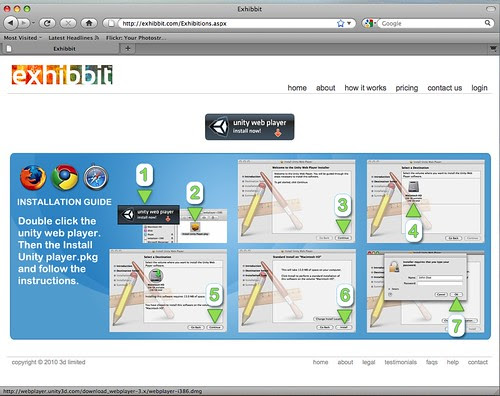 Exhibbit - Download Unity Web Player