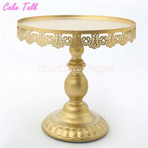 2019 Wholesale Gold Cake Stand With Crystal Pendant