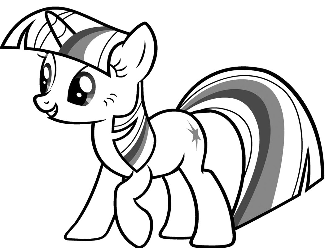 My Little Pony Coloring Pages Twilight Sparkle At Getdrawingscom