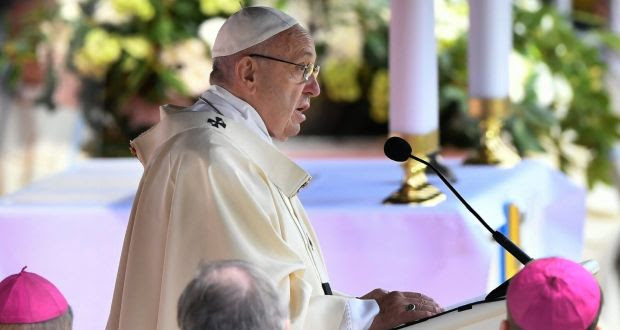 Pope Francis  in Sweden, marking the 500th anniversary of the Reformation. Photograph: EPA/Jonas Ekstroemer