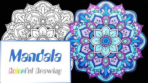 speed coloring coloriage mandala  youtube