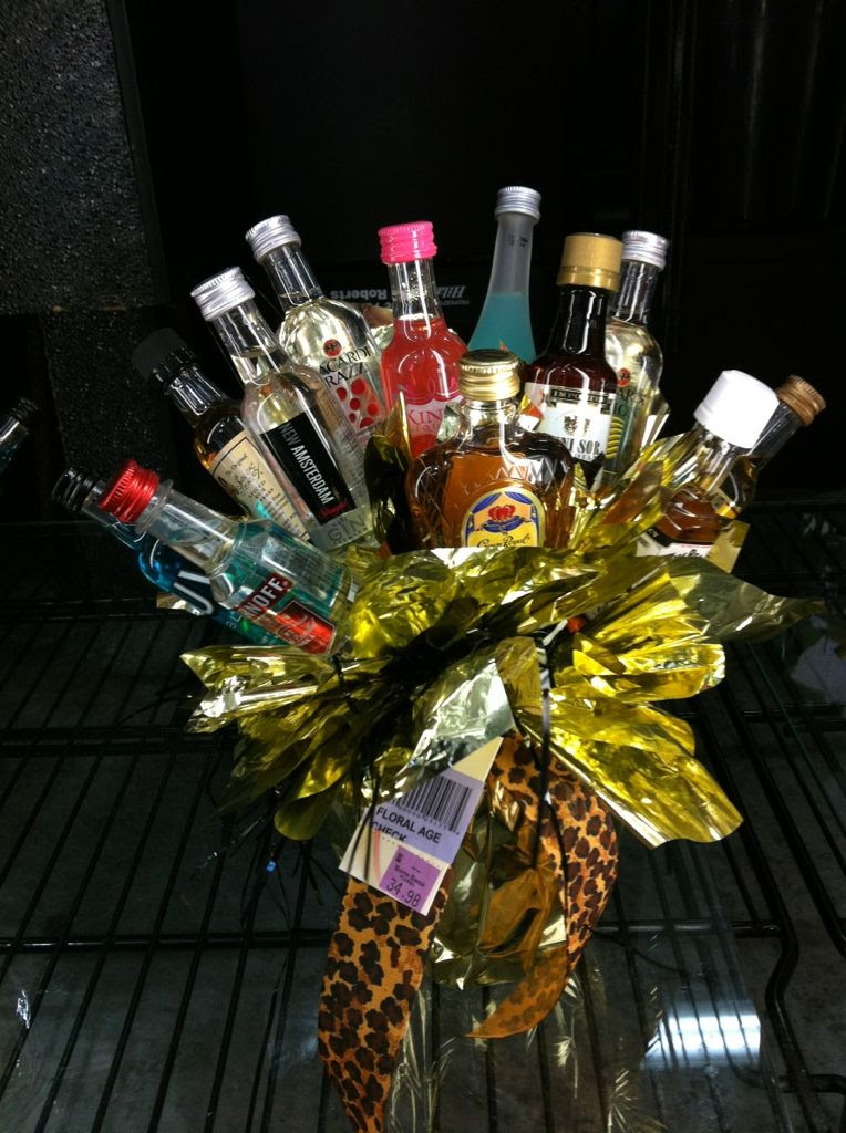 Alcohol Bouquet Of Hard Liquor Is The Worst Anniversary