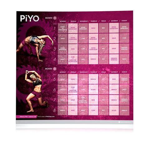 piyo calendar images  pinterest piyo workout