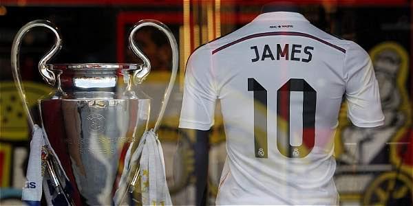 La camiseta de James Rodríguez ha batido récord en ventas.