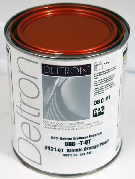 Sell PPG DBC Deltron Basecoat Atomic Orange Pearl QUART ...