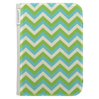 Turquoise/Green Zigzag Kindle Keyboard Covers