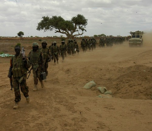 Ground troops from the US-backed AMISOM forces enter the town of Wanlaweyn in Somalia. The country has 17,000 troops occupying the Horn of Africa state on behalf of the Pentagon and NATO. by Pan-African News Wire File Photos