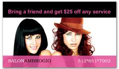CPS-1009 - salon coupon card