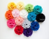 4 of Ruffle Chiffon Flower Hair Clips/ Brooches for Bridesmaid Hair