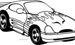 Ateşli Spor Araba Boyama Sayfası