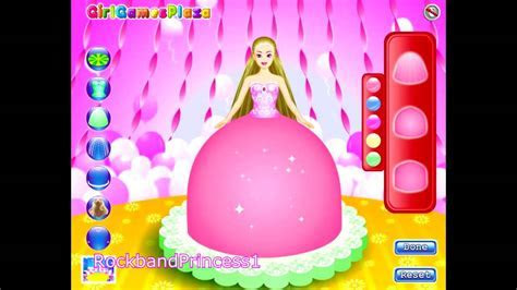 Barbie Cake Game   Barbie Cake Decorating Games   YouTube