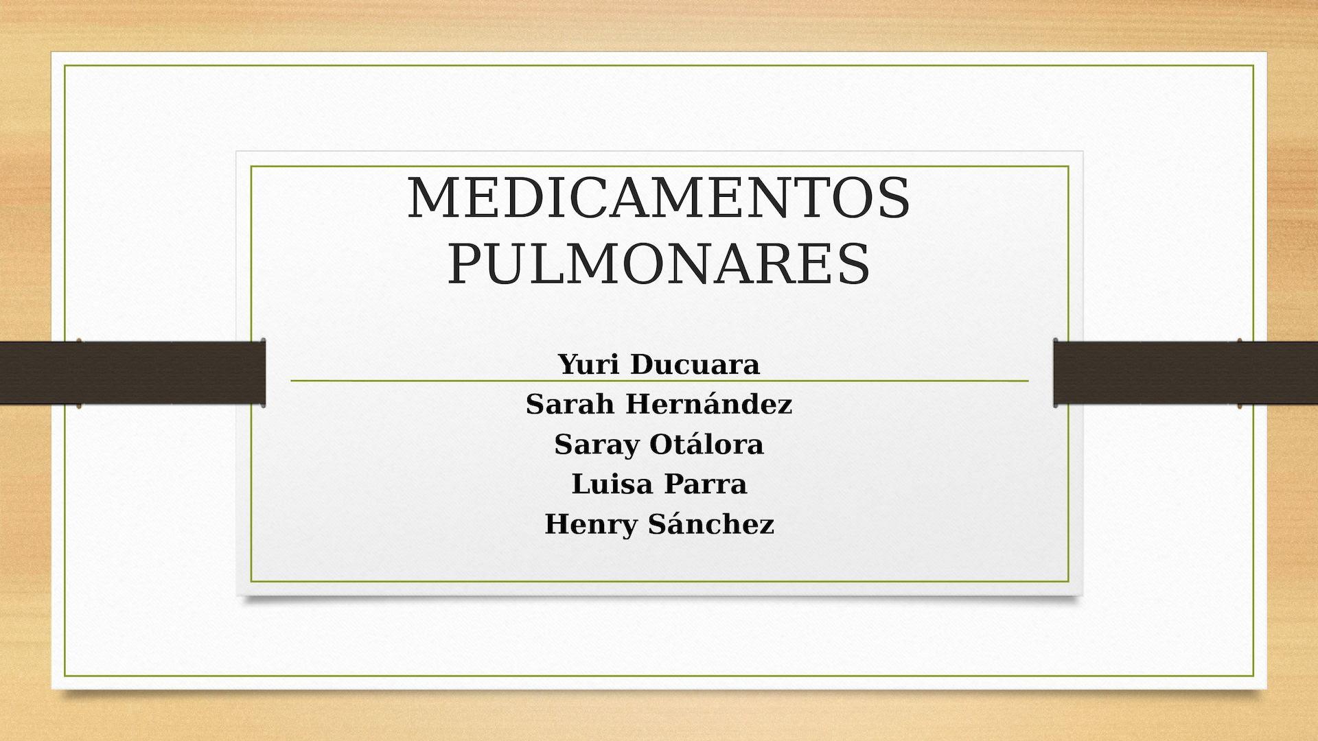 Calaméo Medicamentos Pulmonares Docx Pptx