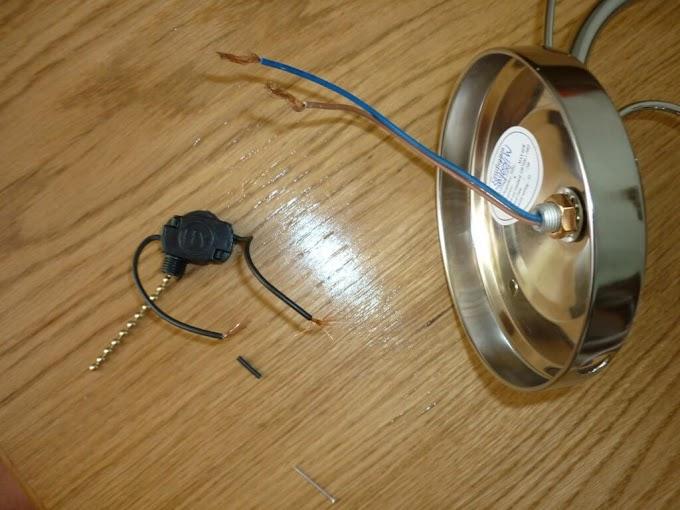 Схема подключения бра с веревочкой с одной и двумя лампами