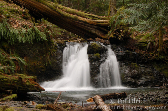 Photograph of a waterfall along Cascade Creek