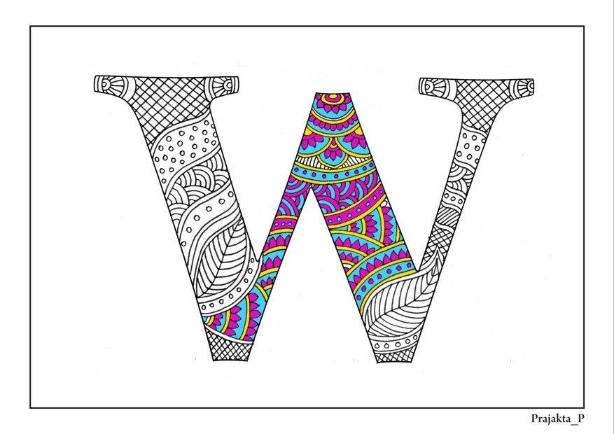 Zentangle alphabet | Etsy