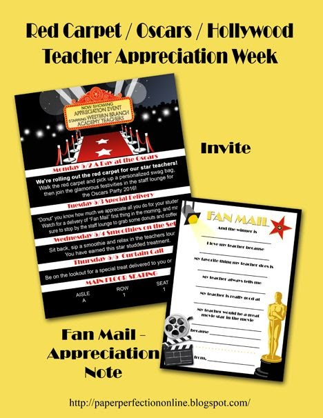 Paper Perfection: Red Carpet / Hollywood / Oscars Teacher ...