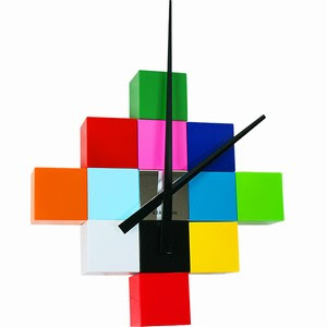 A Rubiks Cube-esque Wall Clock | Gear Live