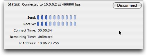 Mac OS X: en línea con un módem Bluetooth Blackberry Pearl 8100!