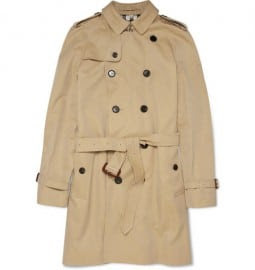 Burberry London Cotton-gabardine Trench Coat