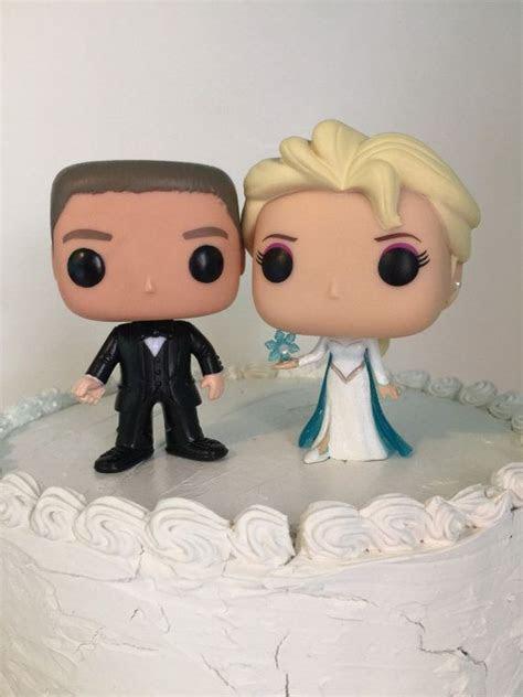 Funko pop Elsa y el novio Pastel de cumpleaños