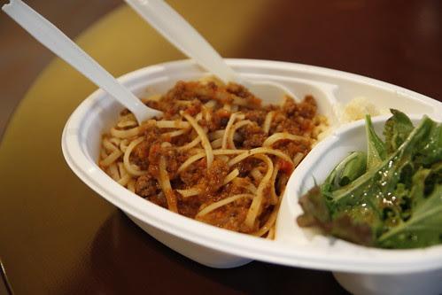 Spaghetti before screening