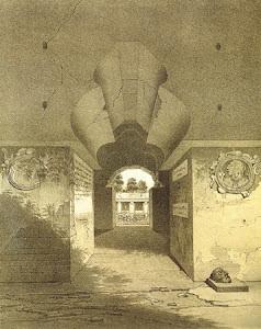 Palenque vista en perspectiva de la puerta en estilo moriego