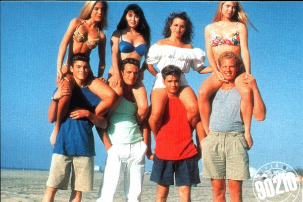 Os oito protagonistas do seriado 'Barrados no Baile' (Foto: Divulgação)