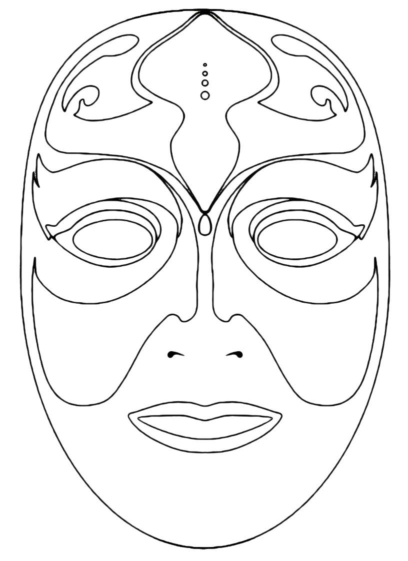 Maschera Venezia Da Colorare Bimbi Di Carta