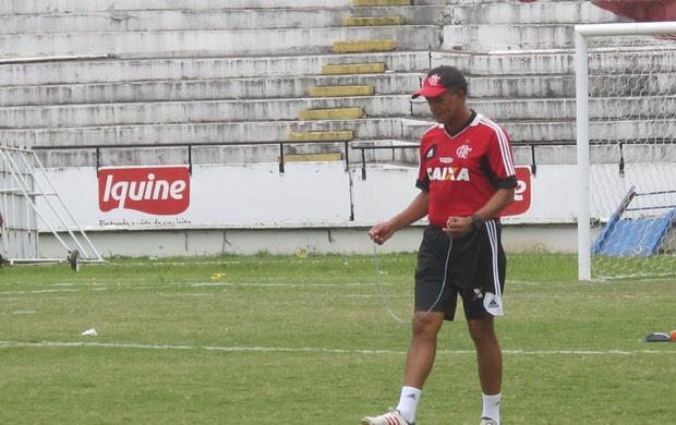 Jayme de Almeida no treino do Flamengo (Foto: Janir Júnior)