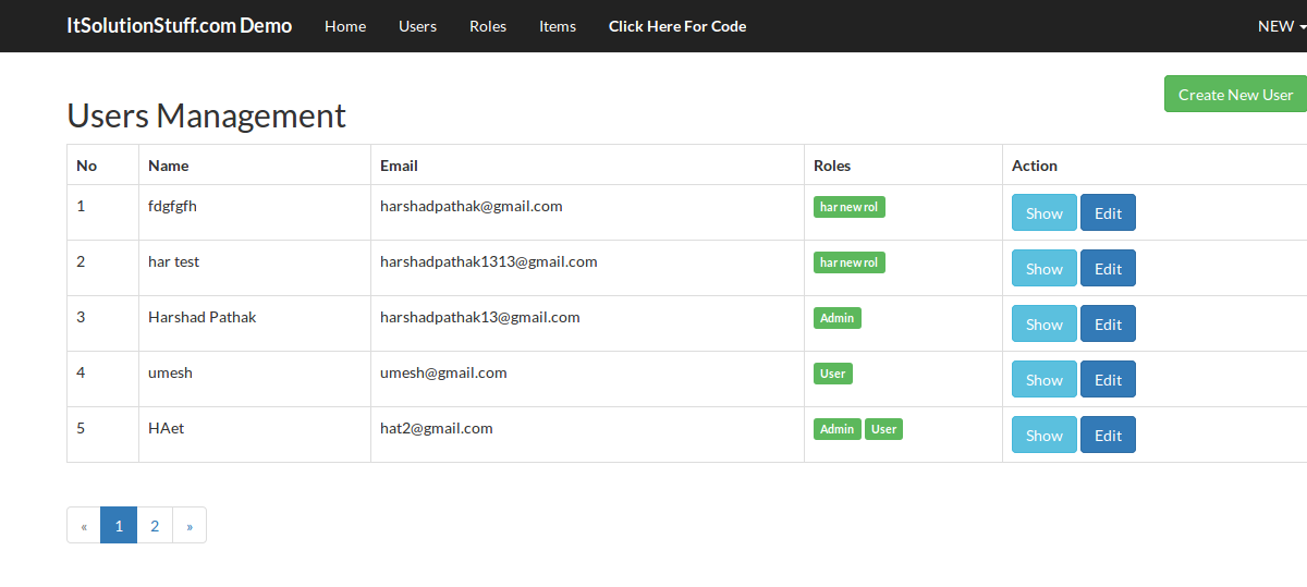 Laravel 5 2 - User ACL Roles and Permissions with Middleware using