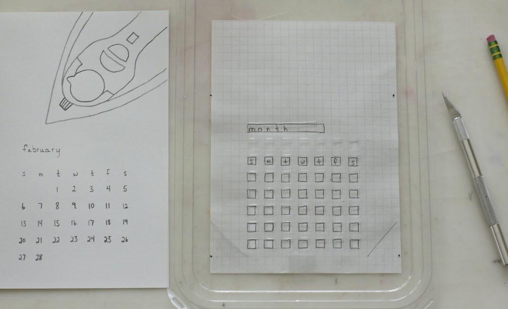 diy calendar template