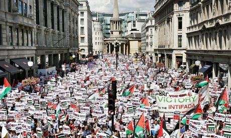 Gaza protest portland place
