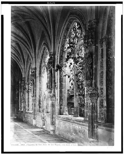 Monasterio de San Juan de los Reyes (claustro) en el siglo XIX. Fotografía de Jean Laurent. The Library of Congress of the United States of America