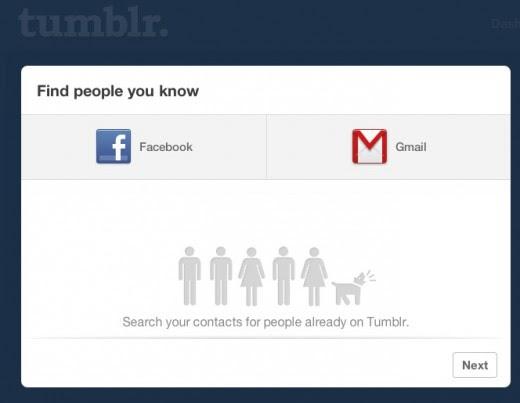 Opção para convidar amigos do Twitter sumiu do Tumblr