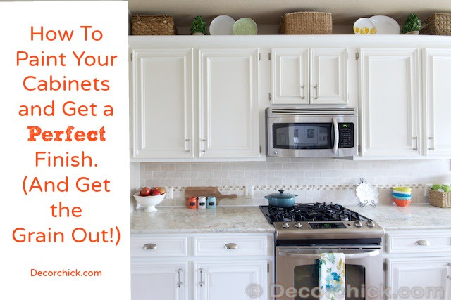 How To Paint Your Cabinets Like The Pros And Get The Grain Out Decorchick