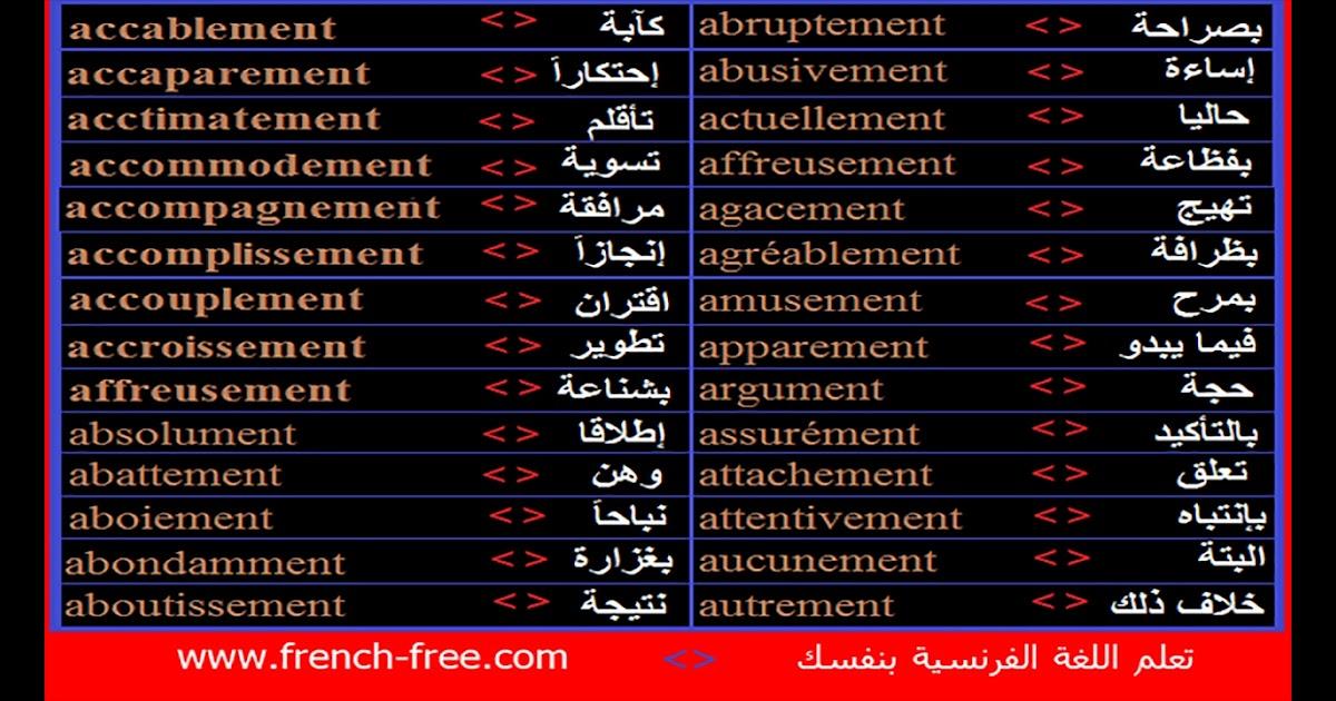 Pantonour كلمات بحرف W بالفرنسية