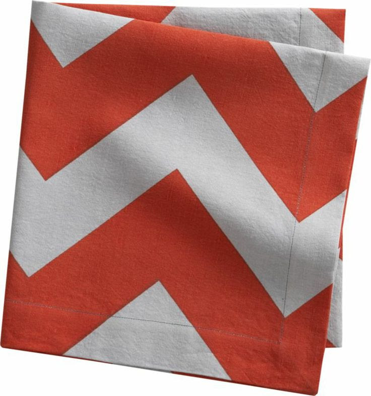 peaks red-orange napkin  | CB2