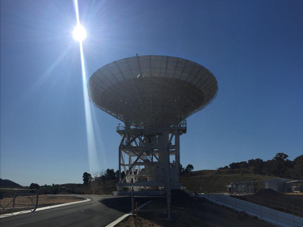 """Résultat de recherche d'images pour """"nouvelle antenne pour communiquer avec les sondes en mission"""""""