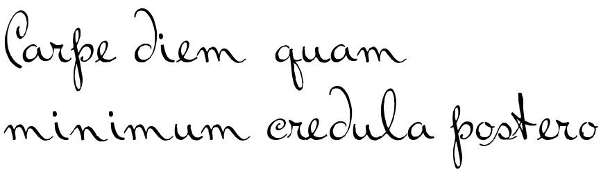 Carpe Diem Quam Minimum Credula Postero Tattoo Script Download