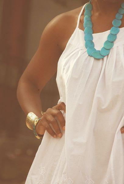 turquoise on white